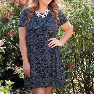 Mary Square Starry Night A-line Dress